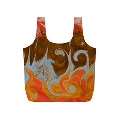 Fire And Water Full Print Recycle Bags (s)  by digitaldivadesigns