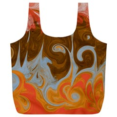 Fire And Water Full Print Recycle Bags (l)  by digitaldivadesigns
