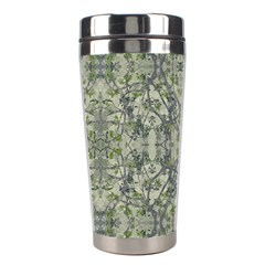 Modern Noveau Floral Collage Pattern Stainless Steel Travel Tumblers by dflcprints