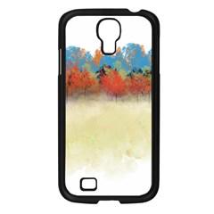 Colorful Tree Landscape In Orange And Blue Samsung Galaxy S4 I9500/ I9505 Case (black) by digitaldivadesigns