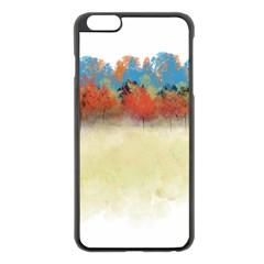 Colorful Tree Landscape In Orange And Blue Apple Iphone 6 Plus/6s Plus Black Enamel Case by digitaldivadesigns