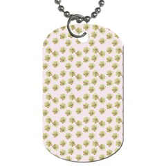 Antique Flowers Pink Dog Tag (two Sides) by snowwhitegirl