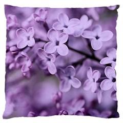 Lilac Large Flano Cushion Case (one Side) by LoolyElzayat
