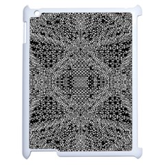 Black And White Psychedelic Pattern Apple Ipad 2 Case (white) by goodart