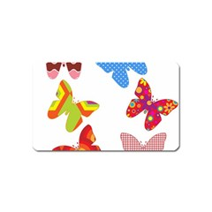 Colorful Butterflies Clipart Magnet (name Card) by goodart