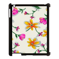 Flower Wallpaper Pattern Apple Ipad 3/4 Case (black) by goodart