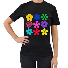 Retro Flower Ornaments Women s T Shirt (black) by goodart