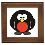 Tux Linux hacker custom Framed Tile