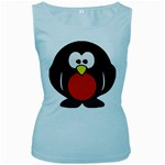 Tux Linux hacker custom Women s Baby Blue Tank Top