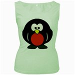 Tux Linux hacker custom Women s Green Tank Top