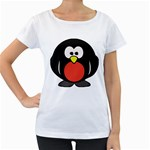 Tux Linux Hacker custom Maternity White T-Shirt