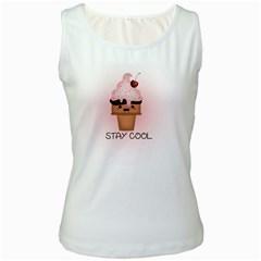 Stay Cool Women s White Tank Top by ZephyyrDesigns
