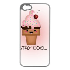Stay Cool Apple Iphone 5 Case (silver) by ZephyyrDesigns