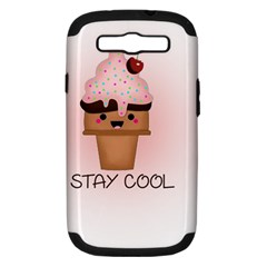 Stay Cool Samsung Galaxy S Iii Hardshell Case (pc+silicone) by ZephyyrDesigns