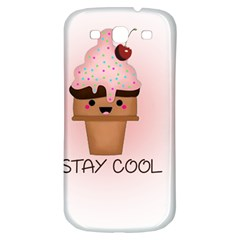 Stay Cool Samsung Galaxy S3 S Iii Classic Hardshell Back Case by ZephyyrDesigns