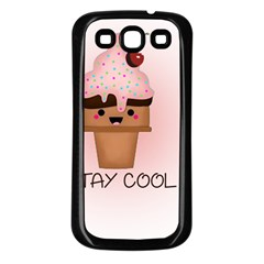Stay Cool Samsung Galaxy S3 Back Case (black) by ZephyyrDesigns