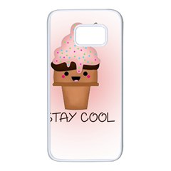 Stay Cool Samsung Galaxy S7 White Seamless Case by ZephyyrDesigns