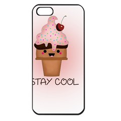 Stay Cool Apple Iphone 5 Seamless Case (black) by ZephyyrDesigns