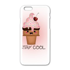 Stay Cool Apple Iphone 6/6s White Enamel Case by ZephyyrDesigns
