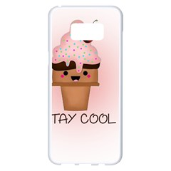 Stay Cool Samsung Galaxy S8 Plus White Seamless Case by ZephyyrDesigns