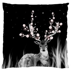 Deer Standard Flano Cushion Case (two Sides)