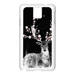 Deer Samsung Galaxy Note 3 N9005 Case (white) by ZephyyrDesigns