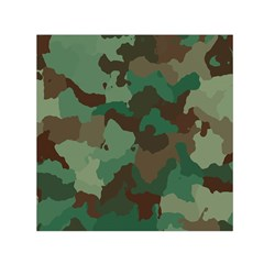 Camouflage Pattern Small Satin Scarf (square)