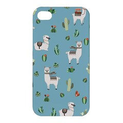 Lama And Cactus Pattern Apple Iphone 4/4s Hardshell Case by Valentinaart