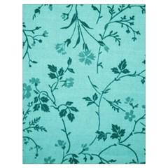 Tissu Fleuri Bleu Sarcelle Teal Drawstring Bag (large) by goodart