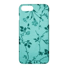 Tissu Fleuri Bleu Sarcelle Teal Apple Iphone 7 Plus Hardshell Case by goodart