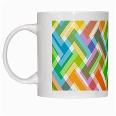 Cool Abstract Pattern Colorful White Mugs