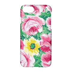 Flower Wallpaper Pattern Pattern Apple Iphone 7 Hardshell Case by goodart