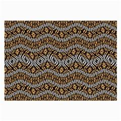 Modern Wavy Geometric Pattern Large Glasses Cloth (2 Side) by dflcprints