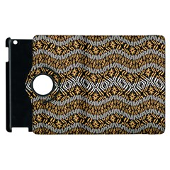 Modern Wavy Geometric Pattern Apple Ipad 2 Flip 360 Case by dflcprints
