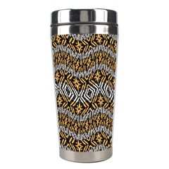 Modern Wavy Geometric Pattern Stainless Steel Travel Tumblers by dflcprints