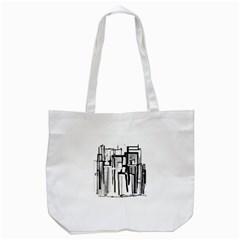 Black And White City Tote Bag (white) by digitaldivadesigns