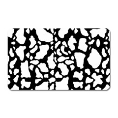 Black White Cow Print Magnet (rectangular) by LoolyElzayat