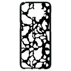 Black White Cow Print Samsung Galaxy S8 Black Seamless Case