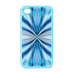 Abstract Blue Apple Iphone 4 Case (color)