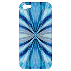 Abstract Blue Apple Iphone 5 Hardshell Case