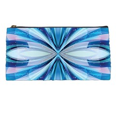 Abstract Blue Pencil Cases