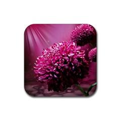 Majestic Flowers Rubber Coaster (square)