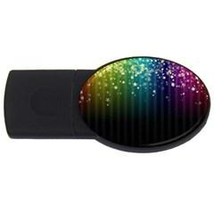 Colorful Space Rainbow Stars Usb Flash Drive Oval (4 Gb) by LoolyElzayat