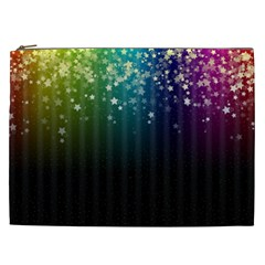 Colorful Space Rainbow Stars Cosmetic Bag (xxl)