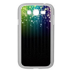 Colorful Space Rainbow Stars Samsung Galaxy Grand Duos I9082 Case (white)