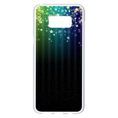 Colorful Space Rainbow Stars Samsung Galaxy S8 Plus White Seamless Case