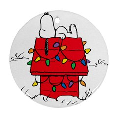 Peanuts Snoopy Ornament (round)