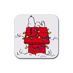 Peanuts Snoopy Rubber Square Coaster (4 Pack)