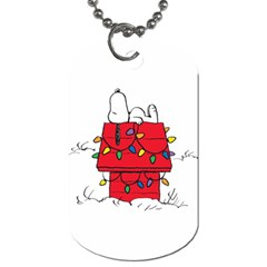 Peanuts Snoopy Dog Tag (two Sides) by Samandel