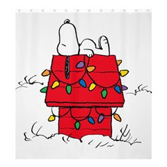 Peanuts Snoopy Shower Curtain 66  X 72  (large)